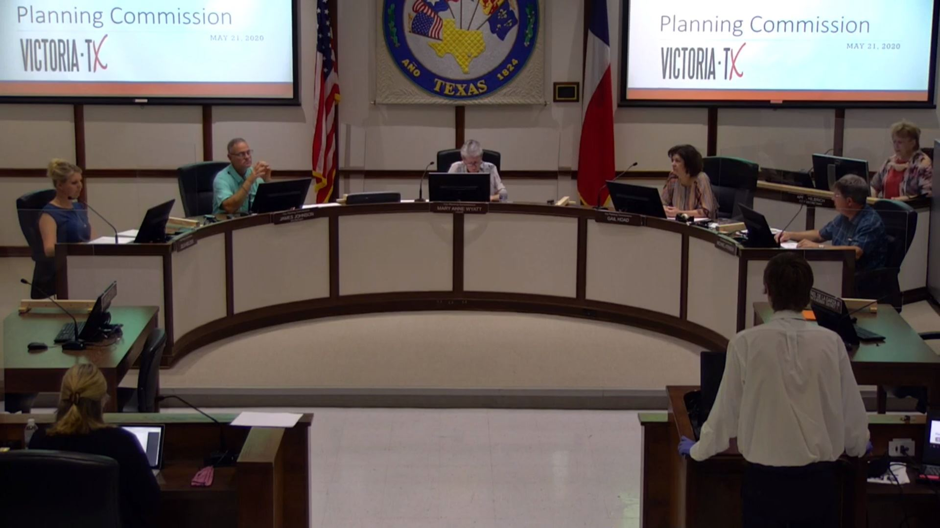 Planning Commission meeting at Council chambers