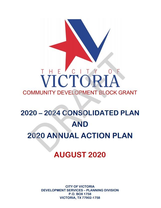 Title page of the 2020-2024 Consolidated Plan and 2020 Annual Action Plan